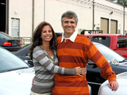 Franck and Gina Freon at Pumpkin Fine Cars & Exotics