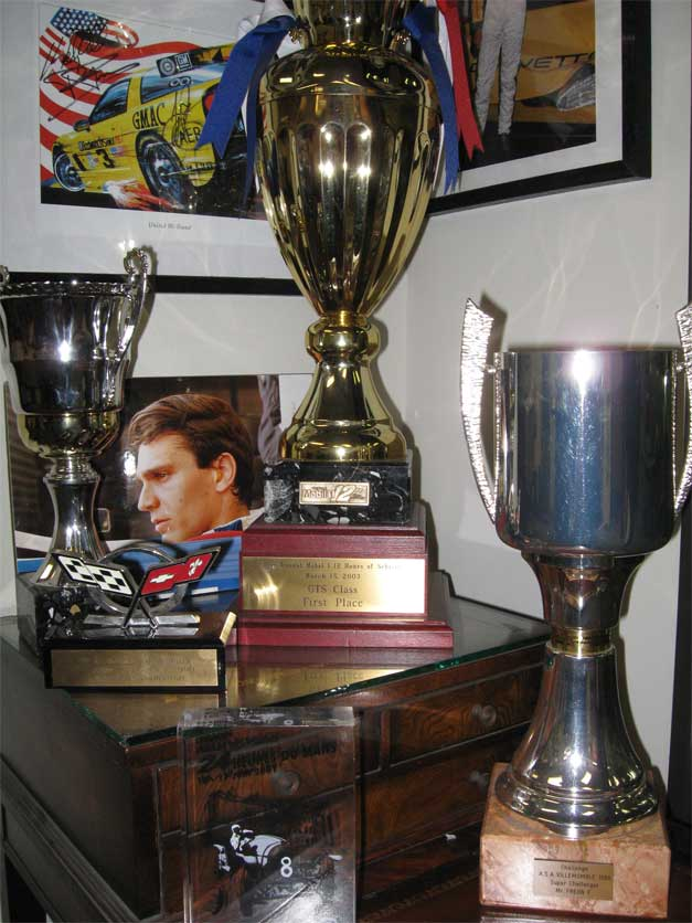 Trophies from Franck Freon's Victories